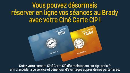 Réservez vos séances en ligne avec votre Ciné Carte CIP